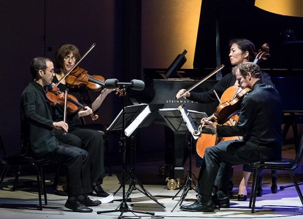 "The Brentano String Quartet performing Bach's ""Art of the Fugue"" - Ojai Music festival 6/10/17 Libbey Bowl"