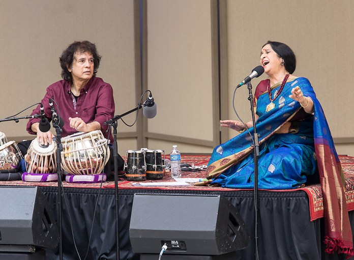 Zakir Hussein and Aruna Sairam at the Ojai Music Festival 6/11/17