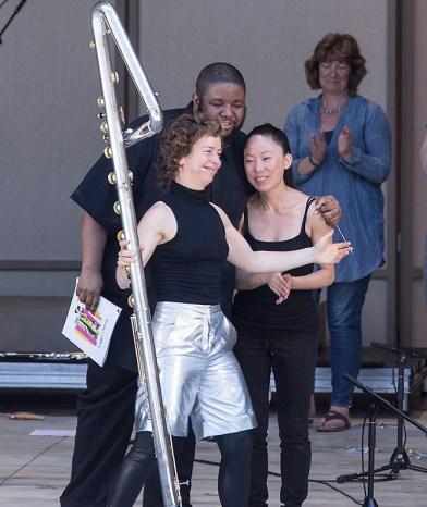 Claire Chase, Tyshawn Sorey and Pauchi Sasaki - Ojai Music Festival 6/9/17 Libbey Bowl
