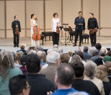 The Brentano String Quartet with Vijay Iyer at the Ojai Music Festival 6/10/17 Libbey Bowl
