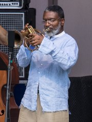 Trumpeter Graham Haynes with the Vijay Iyer Sextet at the 2017 Ojai Music Festival 6/11/17 Libbey Bowl, Ojai, CA