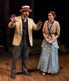 "Zander Meisner as Henry and Sara Brophy as Anna in Alan Knee's ""Syncopation"" - Ensemble Theatre Co. 6/7/17 The New vic Theatre"