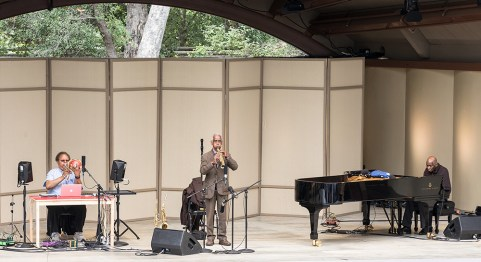 George Lewis - trombone and electronics, Roscoe Mitchell - saxophones, Muhal Richard Abrams - piano at the Ojai Music Festival 6/11/207
