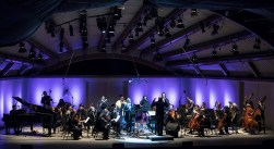 """""""Yet Unheard"""" performed by solo soprano Helga Davis backed by soprano Joelle Lamarre, contralto Gwendolyn Brown, Tenor Julian Otis, baritone Davone Tines and ICE, conducted by Steven Schick - Ojai Music festival 6/10/17 Libbey Bowl"""