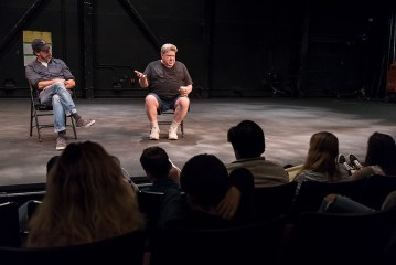 ETC Young Actors Conservatory - actor George Wendt imparts wisdom and laughs - Ensemble Theatre Company 7/20/17 The New Vic Theatre
