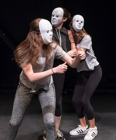 Working with masks in Ensemble Theatere Company Young Actors Conservatory 7/18/17 The New Vic Theatre