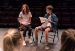 Workshopping scenes in Ensemble Theatere Company's Young Actors Conservatory 7/18/17 The New Vic Theatre