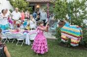 Latana Vapnek takes a swing at the Fiesta piñata 8/5/17 Susanna Vapnek's residence