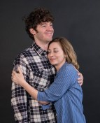 """Sharon Lawrence and Matthew Grondin rehearsing """"The City of Conversation"""" - Ensemble Theatre Co."""