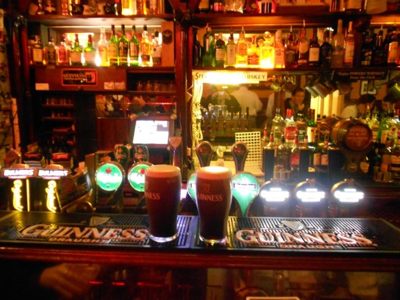 Two Guinnesses in Palace Bar