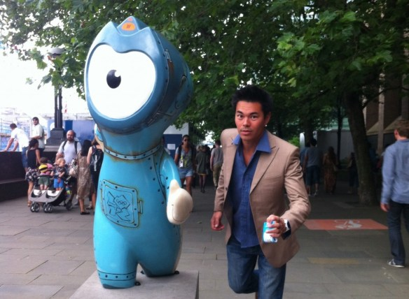 Me with Olympic Mascot
