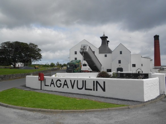 Delivery in process at the Lagavulin Distillery.