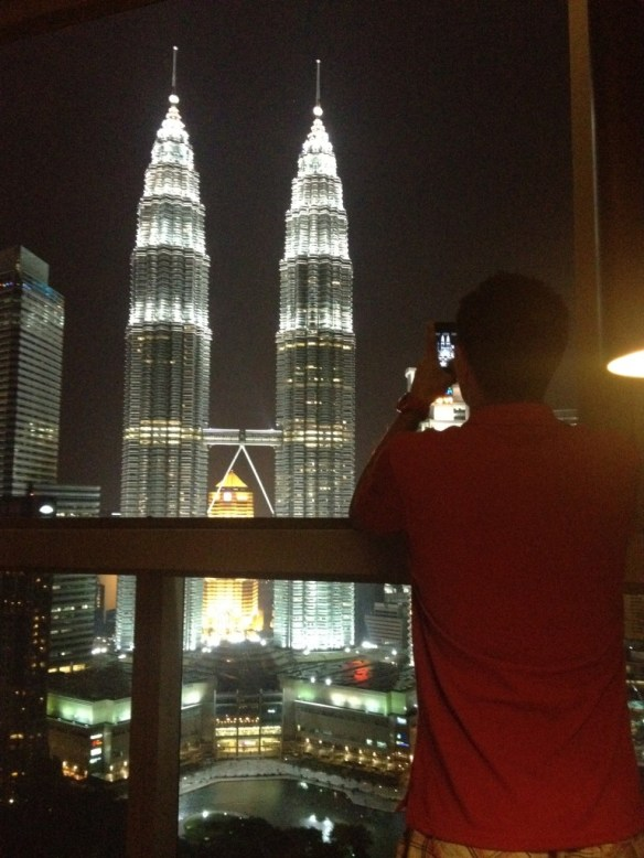 View of Petronas Towers from Skybar