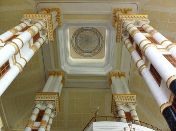 Impressive columns clad in gold...
