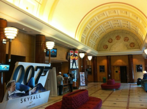 The hotel has its own cinema featuring the newest releases. It is open to the public and has the feel of an old classy theater.