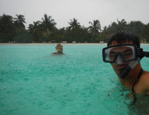 Even rain can't stop the fun in Maldives!