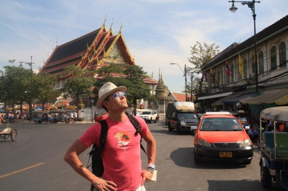 Soaking in some rays at the Grand Palace.