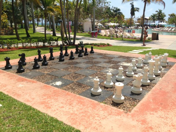 One of the activities available to guest... life-sized chess!