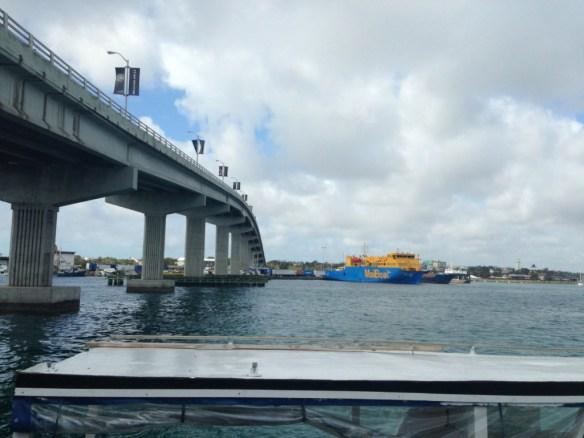 The bridge to Paradise Island and Nassau's waterfront.