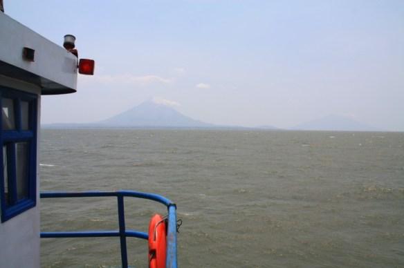 Approaching the twin peaks of Ometepe.