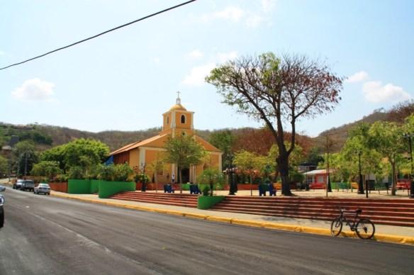 Small church in the center of San Juan del Sur.