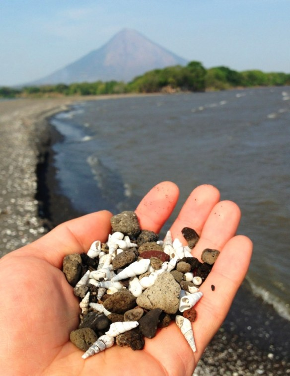 The sand in these areas went from volcanic mud to a shell and pebble mix.