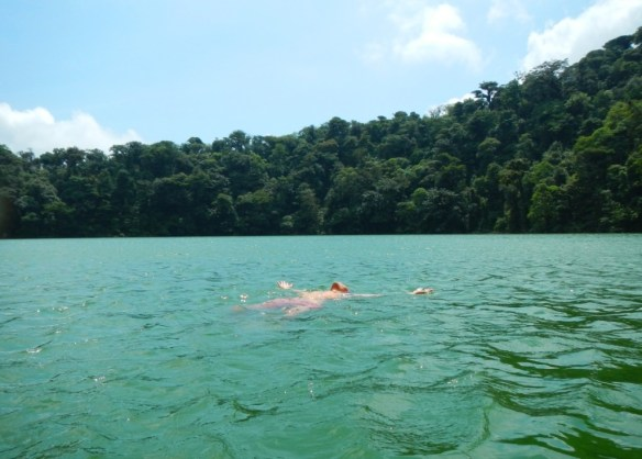 Swimming IN A VOLCANO. NBD.