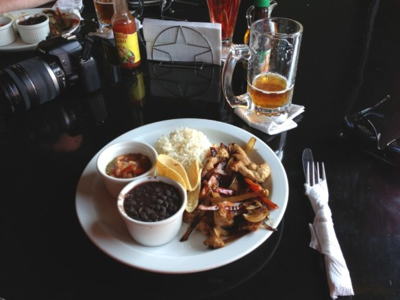 Costa Rican style fajitas and their microbrew beer at <strong>Volcano Brewery</strong>.