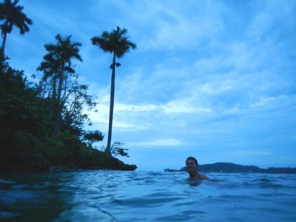 Snorkeling at dusk...