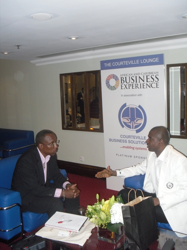 Interviewing Courteville CEO Bola Akindele at ACBE 2013