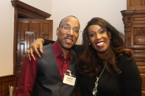 With Angie LaMar at CaribDirect's Caribbean (In)Visibility Seminar December 2013