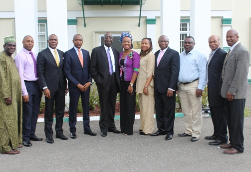 Delegates pose with Nigeria Deputy High Commissioner outside Nigeria High Commission Jamaica