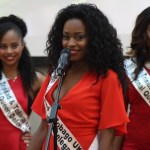 Miss Trinidad and Tobago UK 2016 delegate announcing herself. Photo courtesy CaribDirect