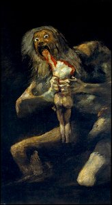 """Francisco de Goya - """"Saturno devorando a un hijo"""""""