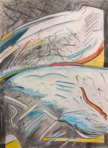The Frozen Lake (scribble di-dee) - Charcoal & pastel onpaper (A1) 2017 copy