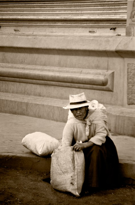 Mujer Con Dos Bolsas