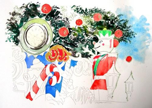 Medium Of Watercolor Christmas Cards