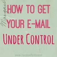 Easy e-mail organization