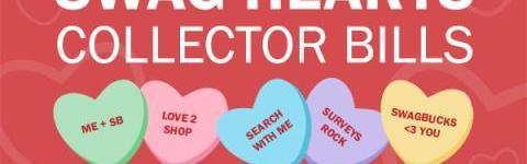Swag Hearts Collectors Bills.