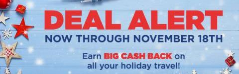 Get great deals when doing your holiday travel shopping! (US)