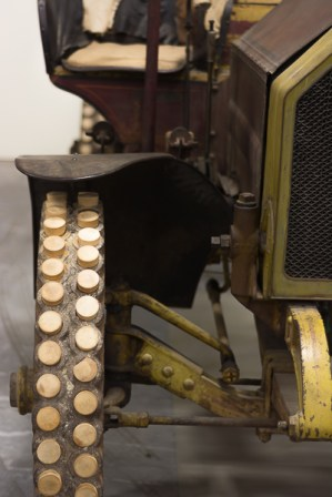 Iowa 80 Truck Museum - wood plugs in tire were easy to replace