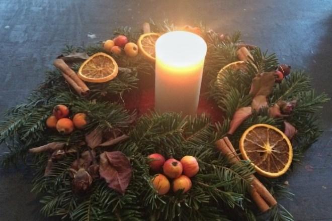 weihnachtsgeschenke adventskranz selbst gemacht diy