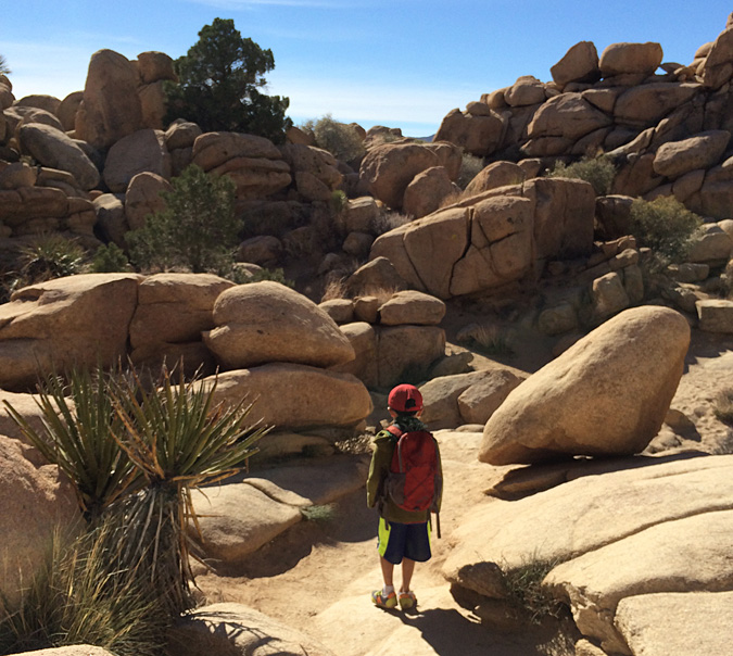 My son leading the way around Hidden Valley trail loop