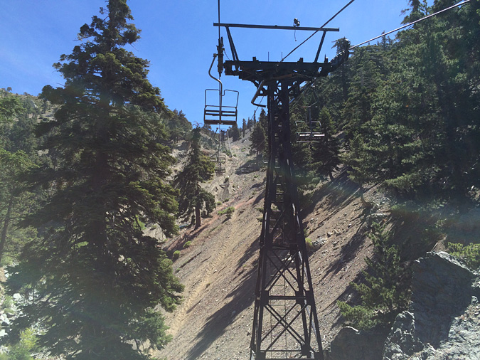 The Mt Baldy ski lift is well-known for being old sketchy and slow, but you won't be in a hurry anyway.
