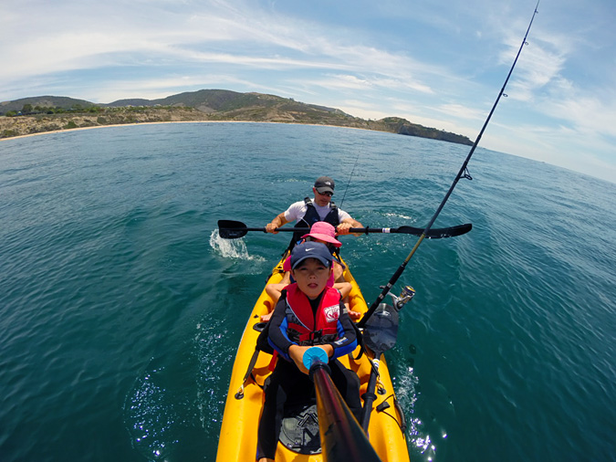 Kayaking off Crystal Cove State Park beach. This photo was featured by Malibu Kayaks on their Instagram feed. Cool!