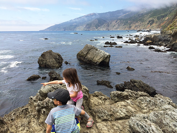 Exploring the beach at Kirk Creek Campground, Big Sur