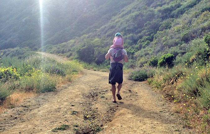 The hike back up to the road was easier for some of us. Partington Cove, Big Sur