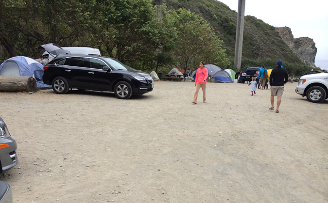 "Limekiln State Park ""beach"" camping is basically a crowded parking lot"