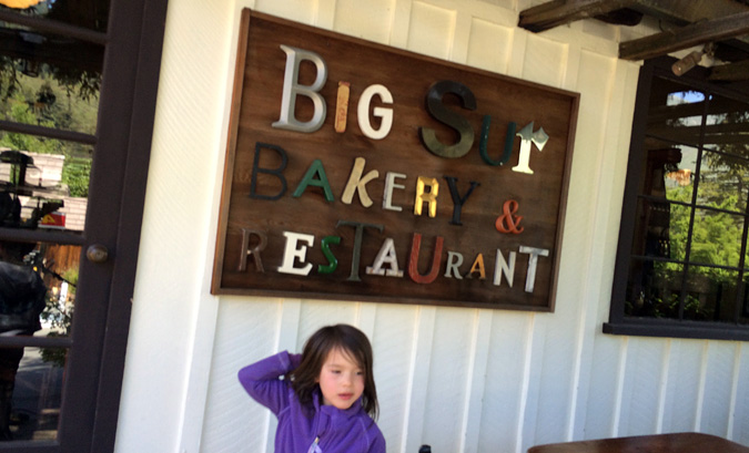 You can't pass through Big Sur without at stop at the Big Sur Bakery. It's world-class.