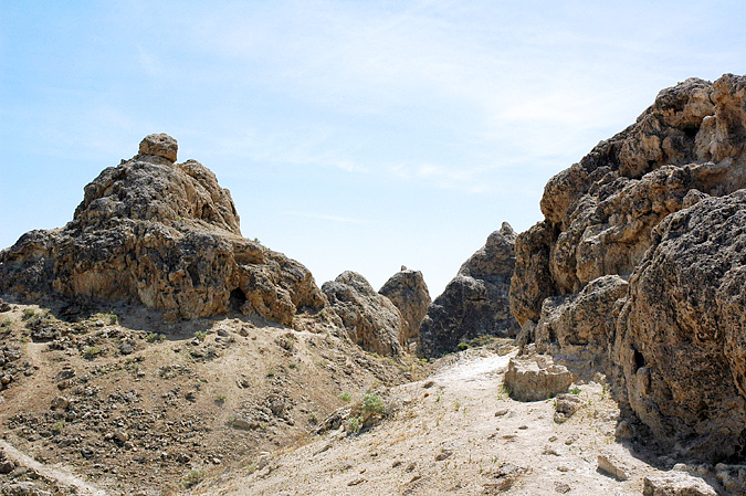 Hiking through the pinnacles